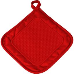 Manique 19 x 19 cm polycoton+silicone cuistot Rouge