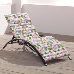 Matelas bain de soleil 60 x 180 cm 100 % coton imprimé Exotic life