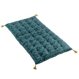 Matelas de sol+pompons 60 x 120 cm en coton  Artchic Bleu