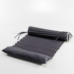Matelas roule 60 x 170 cm polyester bicolore garden Anthracite