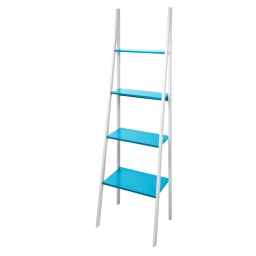 meuble 4 etageres mdf 43*32,5*h143cm vitamine bleu ocean