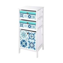 meuble mdf 3 panieres intissé 36*32*h76cm tiles
