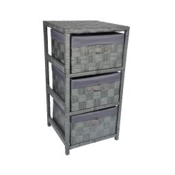 meuble papier 3 panieres 32*32*h.63cm douceur d'interieur - coloris gris