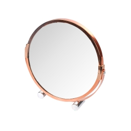 Miroir a poser grossissant x1/x3 metal Or Rose