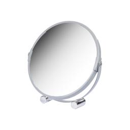 miroir a poser grossissant x1/x3 metal vitamine gris clair