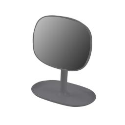 Miroir design plastique avec plateau bijoux vitamine Anthracite