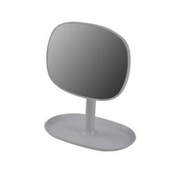 Miroir design plastique avec plateau bijoux vitamine e Gris Clair