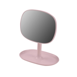 Miroir design plastique avec plateau bijoux vitamine Rose Poudre