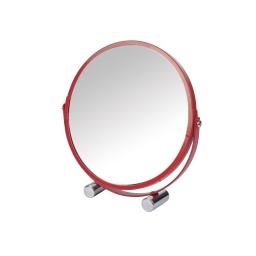 miroir grossisant rouge ø17cm douceur d'interieur theme vitamine