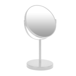 miroir sur pied grossissant x1/x2 metal vitamine blanc