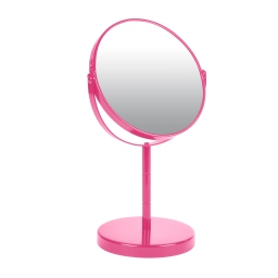 miroir sur pied grossissant x1/x2 metal vitamine fuchsia