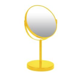 miroir sur pied grossissant x1/x2 metal vitamine jaune
