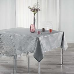 Nappe anti tache 150 x 240 cm imprime metallise veggy Gris/argent