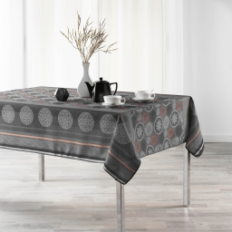 Nappe anti tache 150 x 240 cm imprime oreanis Anthracite