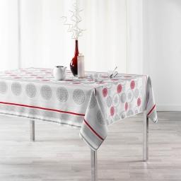 Nappe anti tache 150 x 240 cm imprime oreanis Rouge