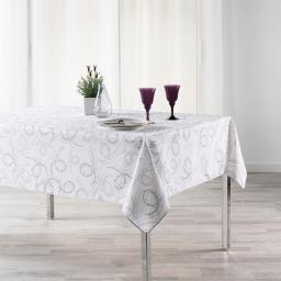 Nappe anti tache 150 x 240 cm imprime revea Blanc