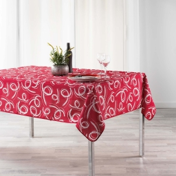 Nappe anti tache 150 x 240 cm imprime revea Rouge