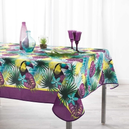 nappe anti tache 150 x 240 cm polyester imprime hawaina