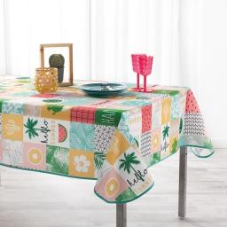 Nappe anti tache 150 x 240 cm polyester imprime sweet paradise