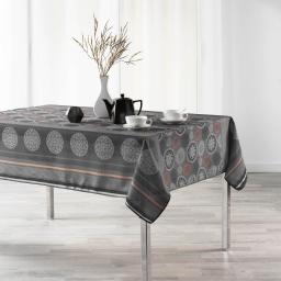 Nappe anti tache 150 x 300 cm imprime oreanis Anthracite