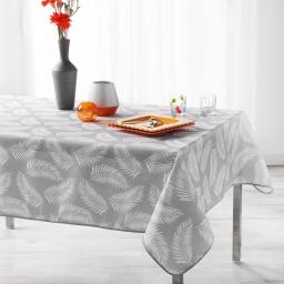 Nappe antitache 150 x 240 cm polyester imprime lifette Gris