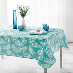 Nappe antitache 150 x 240 cm polyester imprime lifette Menthe