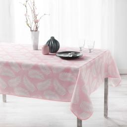 Nappe antitache 150 x 240 cm polyester imprime lifette Rose