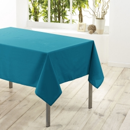 Nappe carree 180 x 180 cm polyester uni essentiel Bleu