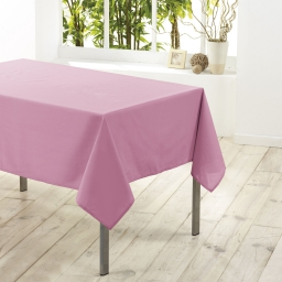 Nappe carree 180 x 180 cm polyester uni essentiel Dragee