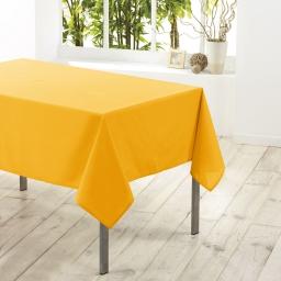 Nappe carree 180 x 180 cm polyester uni essentiel Jaune