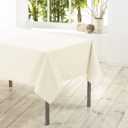 Nappe carree 180 x 180 cm polyester uni essentiel Naturel