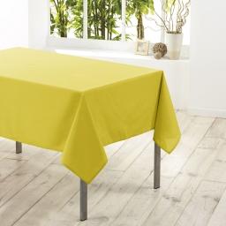 Nappe carree 180 x 180 cm polyester uni essentiel Tilleul
