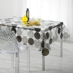 nappe cristal rectangle 140 x 240 cm pvc imprime 14/100e cosmik