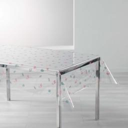 nappe cristal rectangle 140 x 240 cm pvc imprime 14/100e pinkella