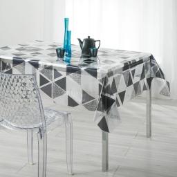 nappe cristal rectangle 140 x 240 cm pvc imprime 14/100e pyramide