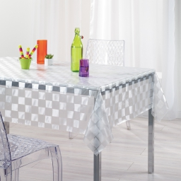 nappe cristal rectangle 140 x 240 cm pvc imprime 18/100e mosaïque
