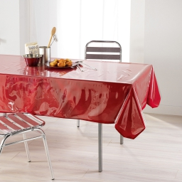 nappe cristal rectangle 140 x 240 cm pvc uni 15/100e transparent