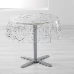 nappe cristal ronde (0) 140 cm pvc imprime 14/100e bully
