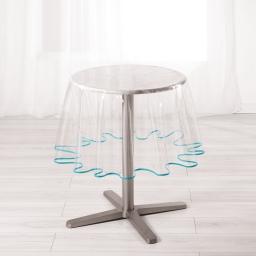 Nappe cristal ronde (0) 180 cm pvc uni 15/100e garden/biais Aqua