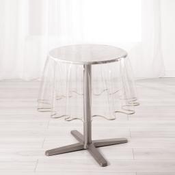 Nappe cristal ronde (0) 180 cm pvc uni 15/100e garden/biais Taupe