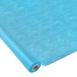 nappe effet tissu 1.20x10m -50gr/m² - tissu tnt polypropylene 100%- bleu caraibe