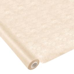 nappe effet tissu 1.20x10m - 50gr/m² - tissu tnt polypropylene 100% - creme