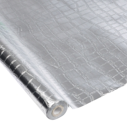 nappe impermeable finition peau de crocodile pp 1.20m*5m*ø4.5cm - argent