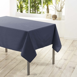 Nappe rectangle 140 x 200 cm polyester uni essentiel Beton