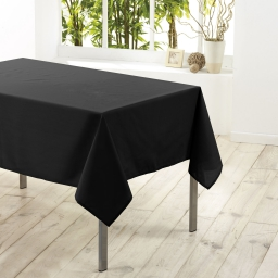 Nappe rectangle 140 x 200 cm polyester uni essentiel Noir