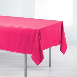 Nappe rectangle 140 x 200 cm polyester uni punchy Fuchsia