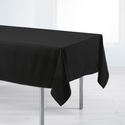 Nappe rectangle 140 x 200 cm polyester uni punchy Noir