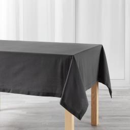 Nappe rectangle 140 x 240 cm coton uni charline Anthracite
