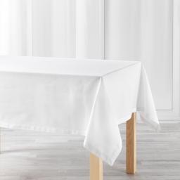 Nappe rectangle 140 x 240 cm coton uni charline Blanc
