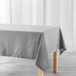 Nappe rectangle 140 x 240 cm coton uni charline Gris